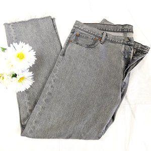Vintage 90s Levi's 501 Gray Button Fly Jeans Sz 36